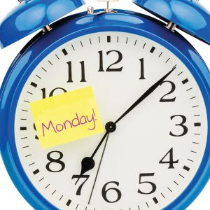 Never miss a Monday: Kick-start every week off well, with regular exercise.