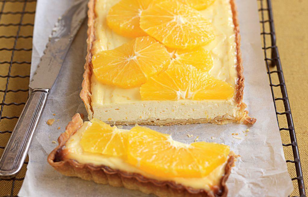 Orange, yoghurt and honey tart