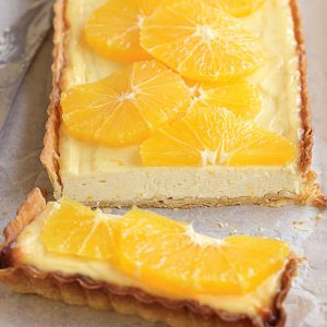 Orange, yoghurt and honey tart