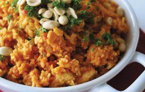 Peanut chicken and rice