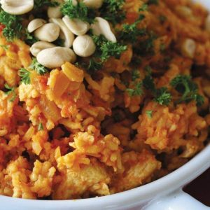 Peanut chicken and rice