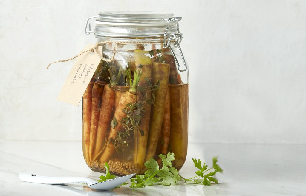 Pickled baby carrots