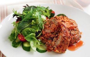 Plum-glazed meat loaf