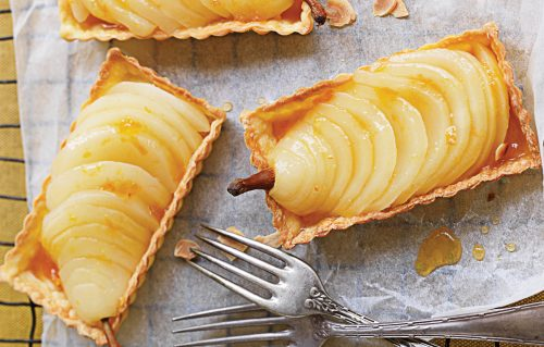 Poached pear tarts