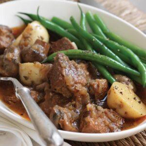 Pork, potato and mushroom stew