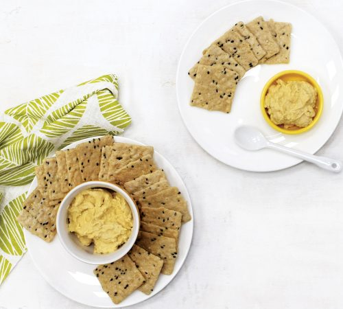 Portion distortion: Crackers and dips