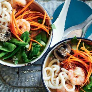Japanese prawn hotpot
