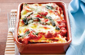 Pumpkin and spinach individual lasagnes