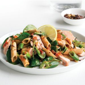 Quick salmon and lemon pasta