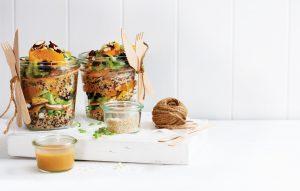 Quinoa salad jar