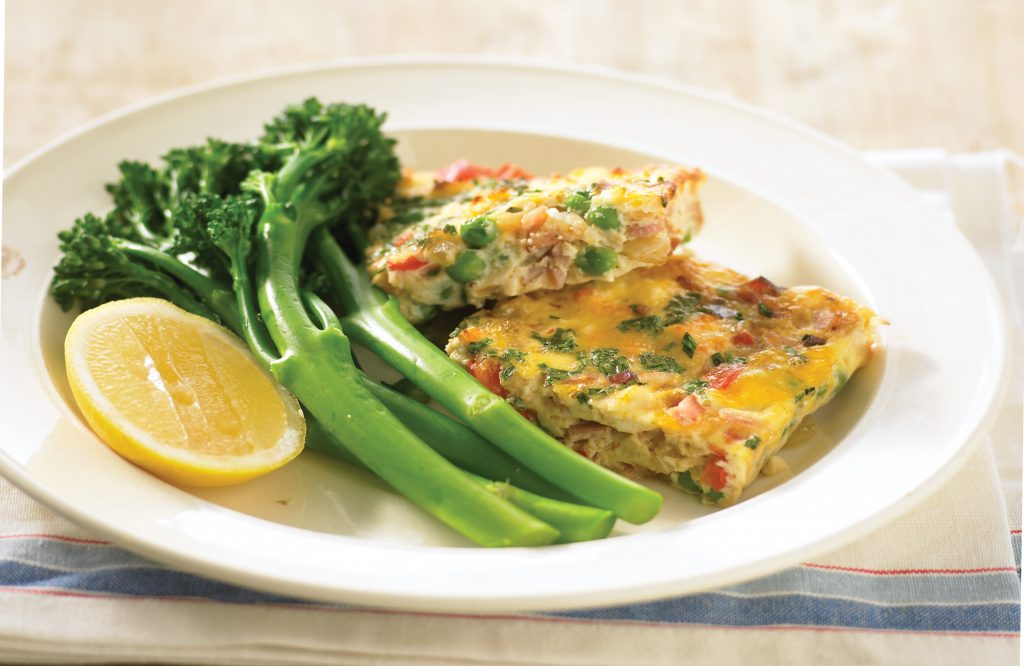 Cheese and bacon baked frittata