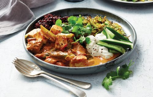 Rich tomato tofu curry