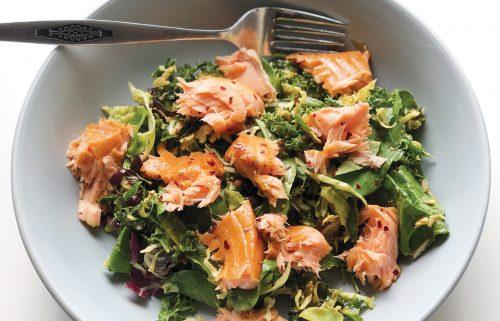 Sesame salmon slaw