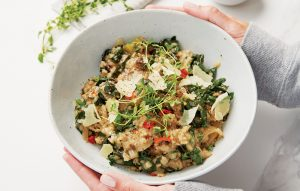 Silver beet risotto