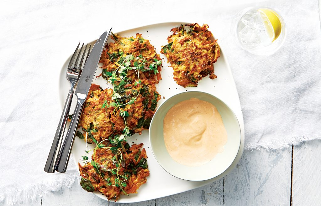 Smoked fish cakes with chipotle mayo