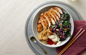 Soy ginger chicken with winter slaw