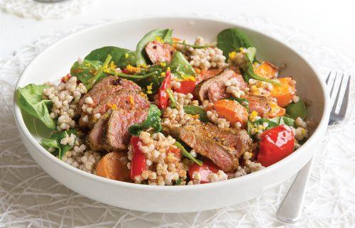 Spiced lamb and buckwheat salad