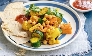 Spiced vegetables and chickpeas