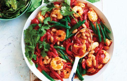 Spicy prawn and capsicum sauté