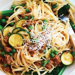 Spicy sausage and broccolini pasta