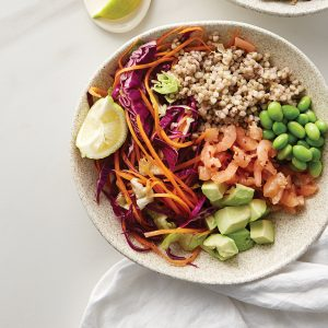 Weeknight meal plan: Lemon squid, prawn bowl, chicken salad, veg noodles