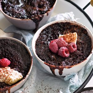 Saucy chocolate pudding
