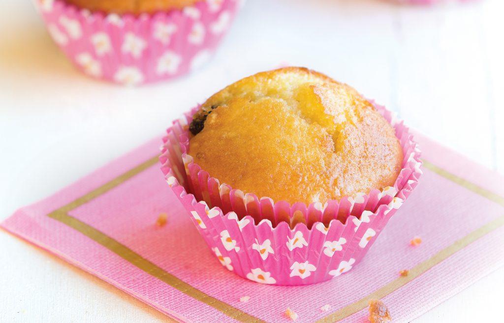 Sultana, almond and lemon muffins