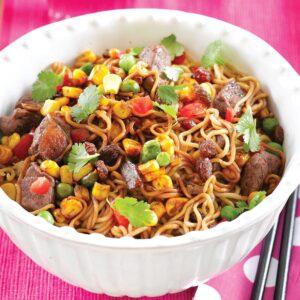 Sultana beef noodle stir-fry
