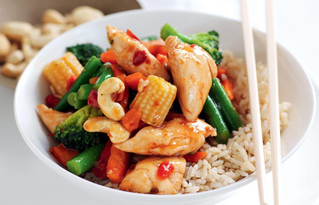 Sweet chilli chicken and cashew stir-fry