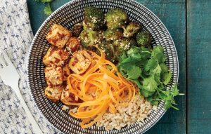 Tandoori tofu with carrot pickle