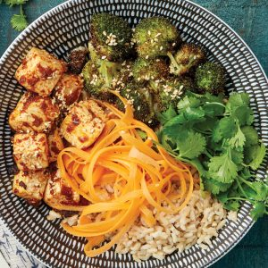 Tandoori tofu with carrot pickle