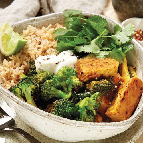 Tempeh tamarind curry