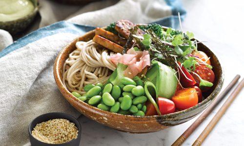 Teriyaki tempeh bowl