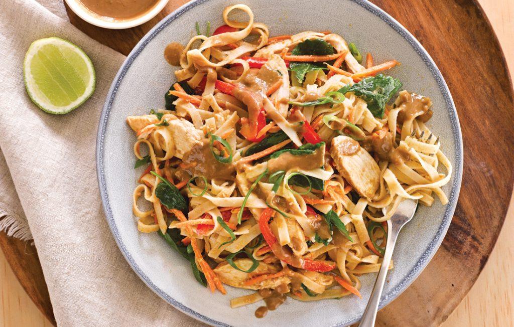 Thai noodle stir-fry