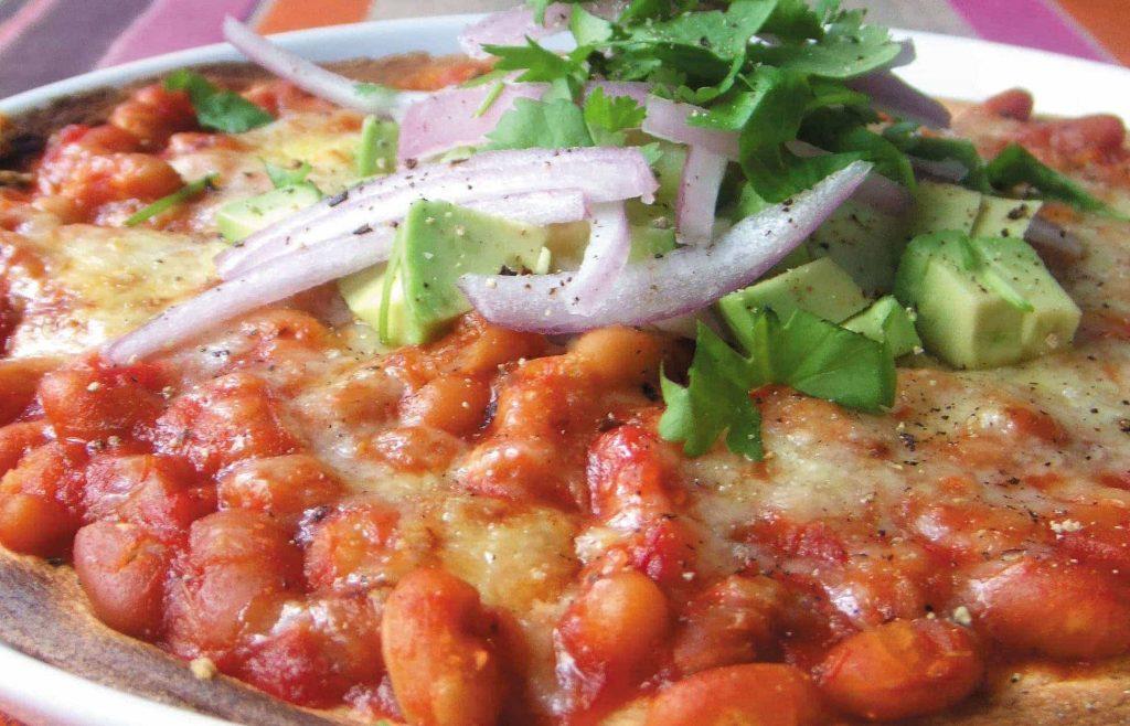 Tasty bean and avocado tostadas