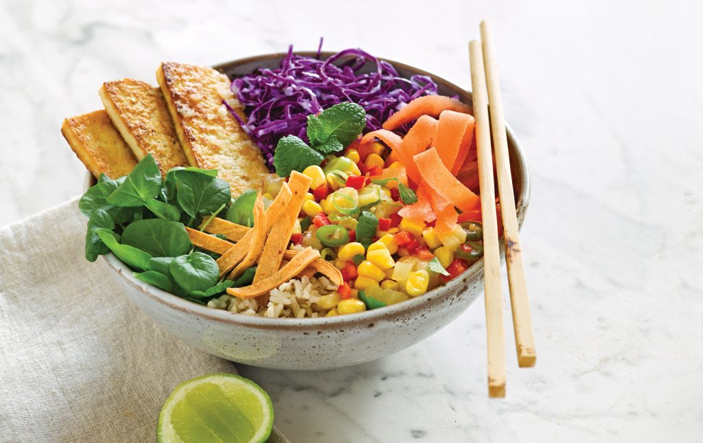 Tropical tofu bowl