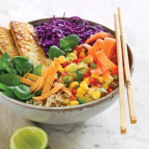 Tropical tofu bowl