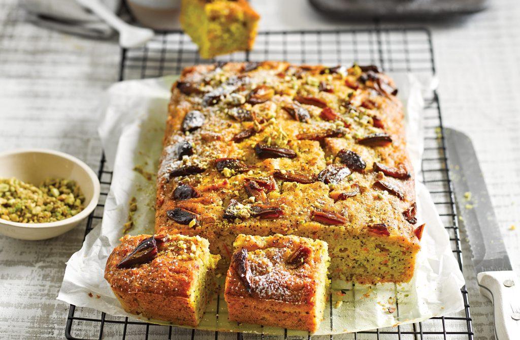 Turmeric and lemon parsnip cake
