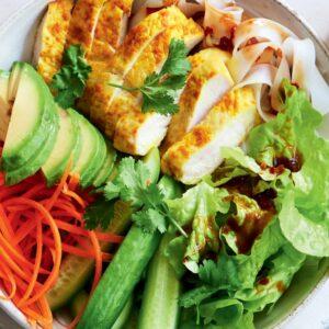 Turmeric chicken bowl