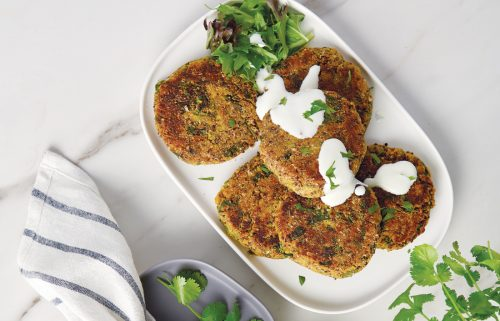 Turmeric chickpea fritters (made with aquafaba)