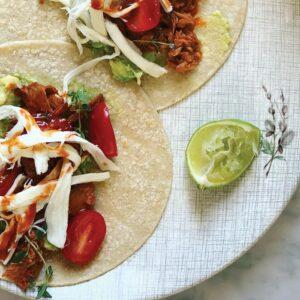 Tuna and avocado tacos
