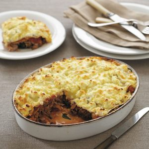 Tuna and vegetable lasagne