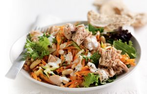 Tuna and white bean salad with lemon mayonnaise
