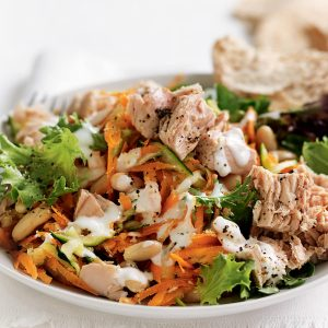 Tuna and white bean salad with lemon mayonnaise