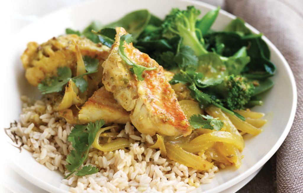 Turmeric fish curry