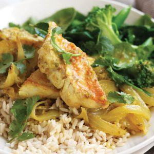 Turmeric fish curry