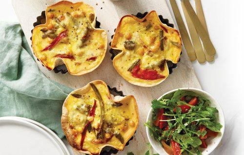 Tuscan veg taco tarts