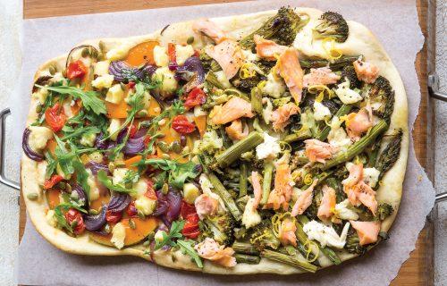Upside-down pizza!