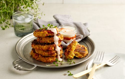 Vege drawer cheesy fritters
