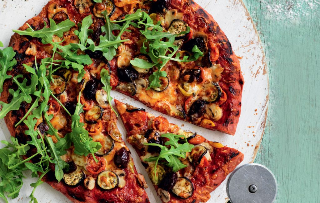 Healthy vegetarian pizza